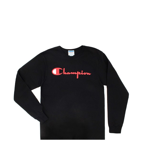 Mens Champion Heritage Long Sleeve Tee - Black