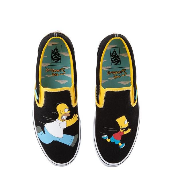 Vans x The Simpsons Slip On Homer and Bart Skate Shoe - Black