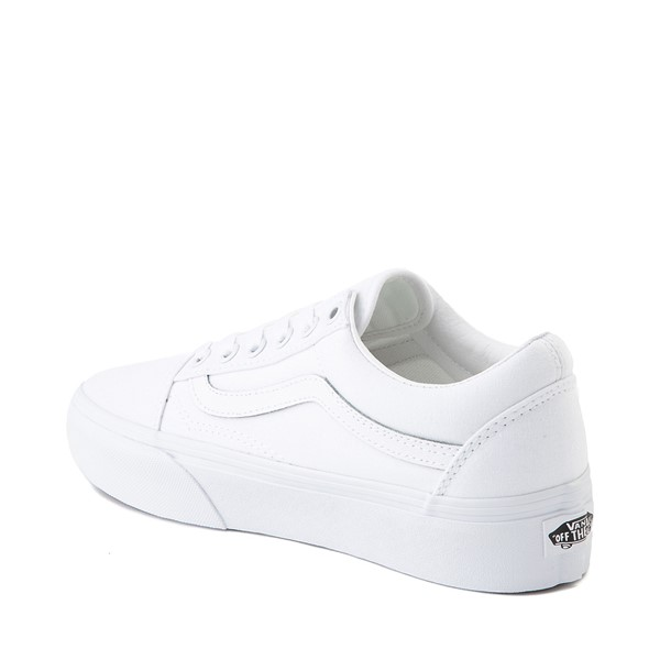 alternate image alternate view Vans Old Skool Platform Skate Shoe - White MonochromeALT1