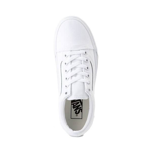alternate image alternate view Vans Old Skool Platform Skate Shoe - White MonochromeALT2