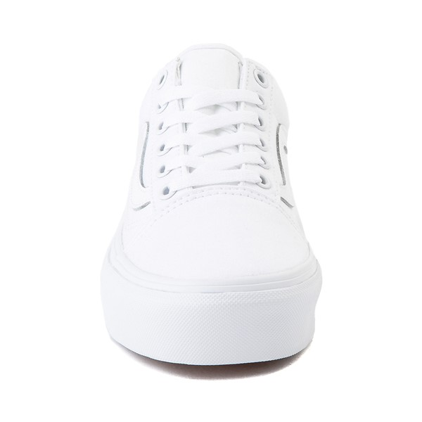 alternate image alternate view Vans Old Skool Platform Skate Shoe - White MonochromeALT4