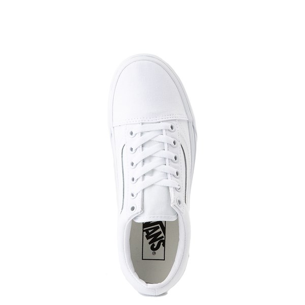 alternate image alternate view Vans Old Skool Platform Skate Shoe - White MonochromeALT4B
