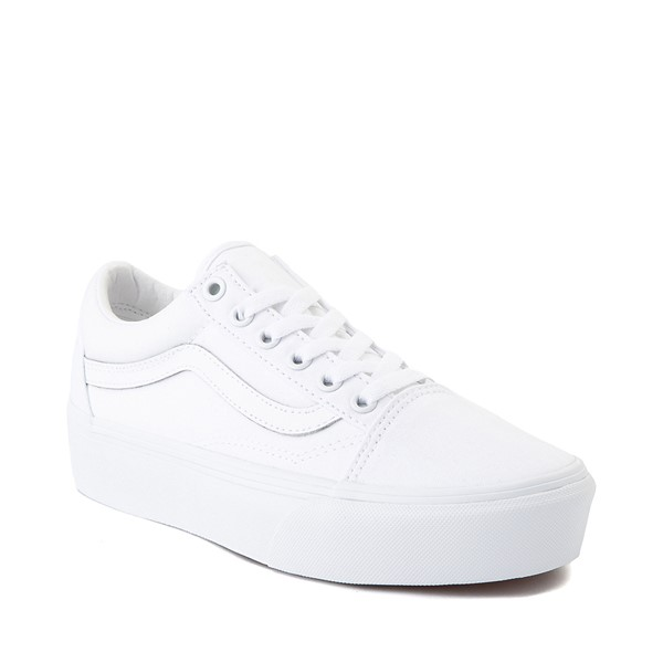 alternate image alternate view Vans Old Skool Platform Skate Shoe - White MonochromeALT5