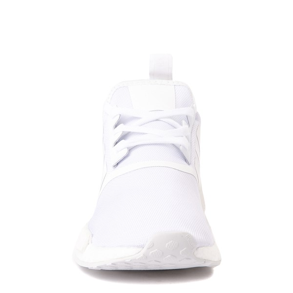alternate image alternate view Mens adidas NMD R1 Athetic Shoe - White MonochromeALT4