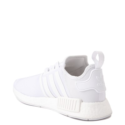 Alternate view of Mens adidas NMD R1 Athetic Shoe - White Monochrome
