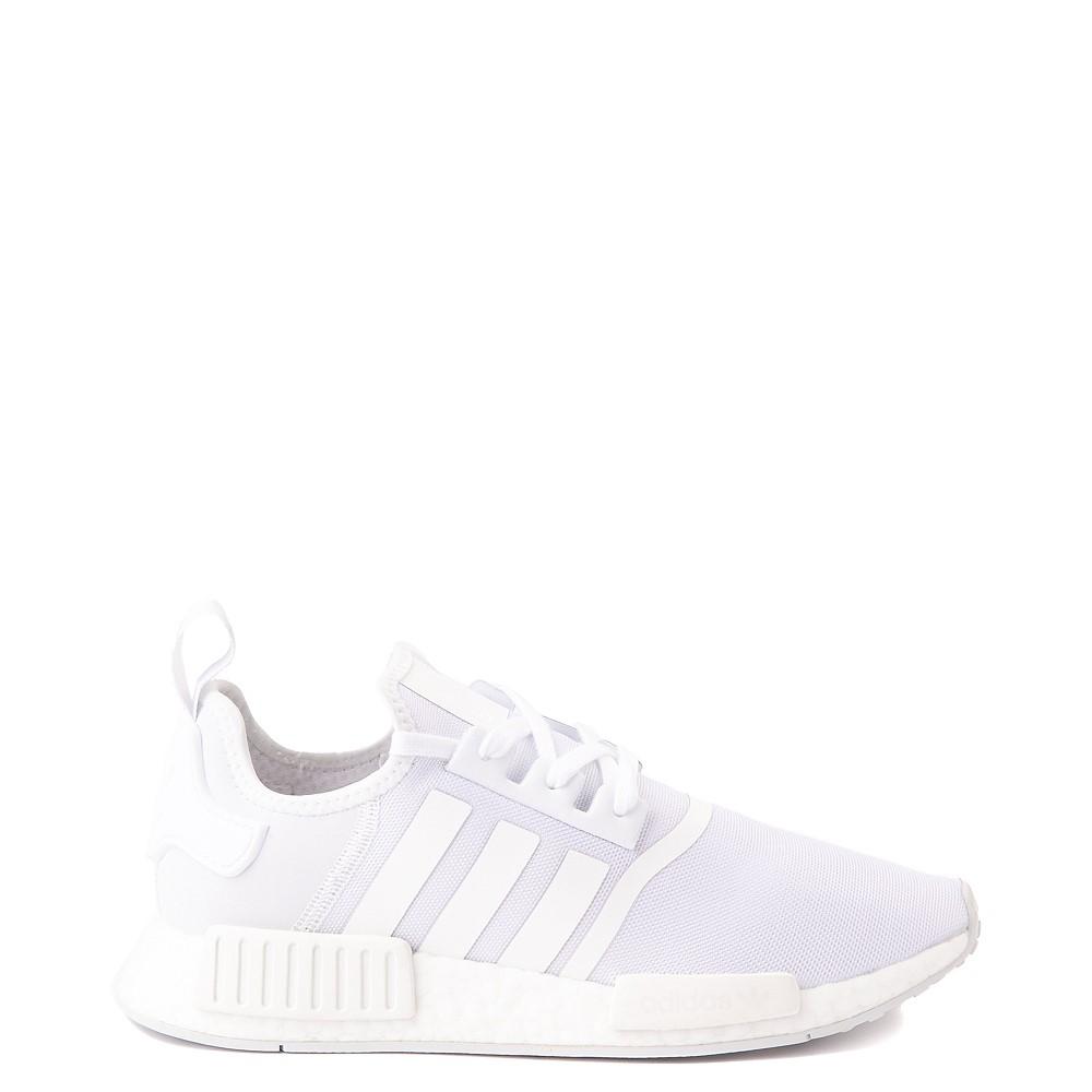 Mens adidas NMD R1 Athetic Shoe - White Monochrome