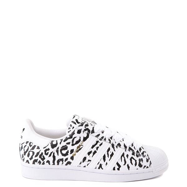 Main view of Womens adidas Superstar Athletic Shoe - Leopard / White