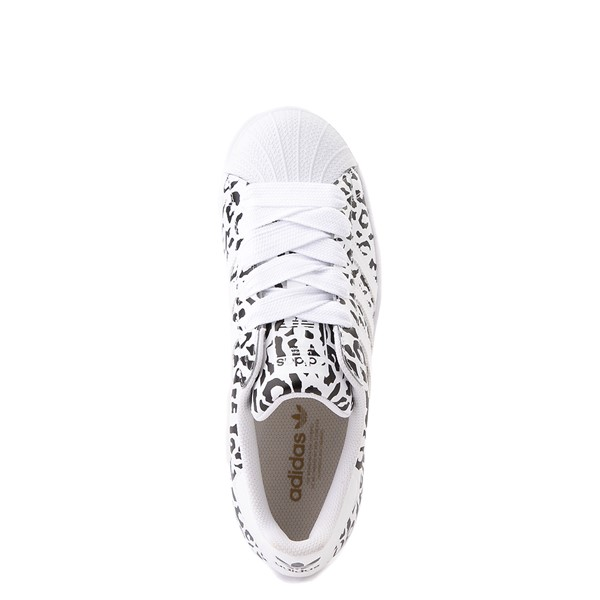 alternate image alternate view Womens adidas Superstar Athletic Shoe - Leopard / WhiteALT4B