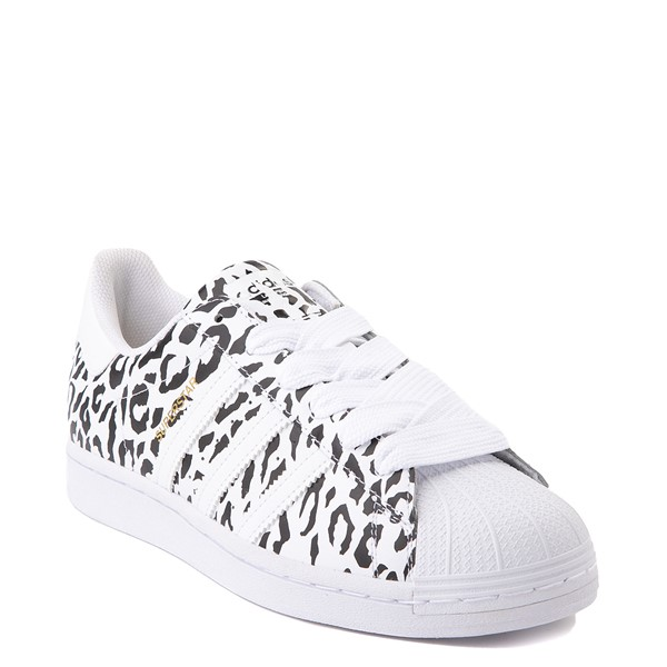 alternate image alternate view Womens adidas Superstar Athletic Shoe - Leopard / WhiteALT5