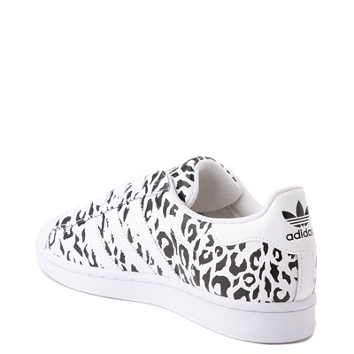 Alternate view of Womens adidas Superstar Athletic Shoe - Leopard / White