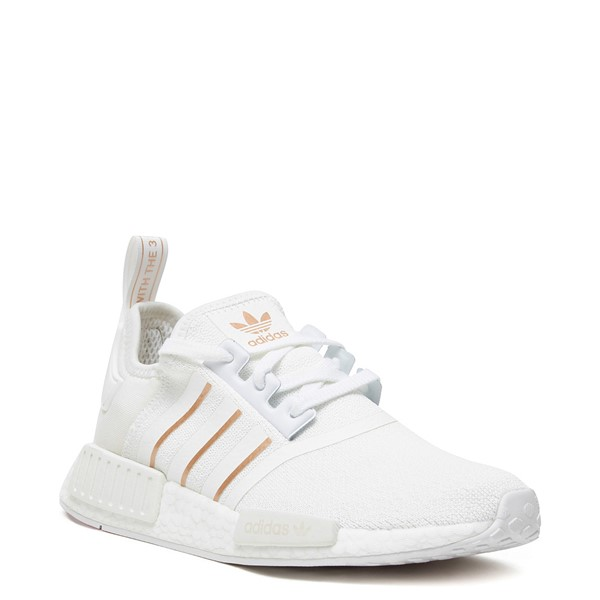 alternate image alternate view Womens adidas NMD R1 Athletic Shoe - White / Rose GoldALT1