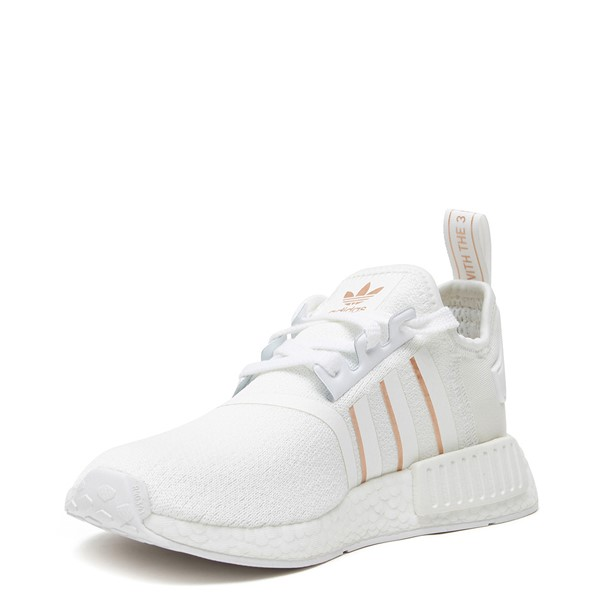 alternate image alternate view Womens adidas NMD R1 Athletic Shoe - White / Rose GoldALT3