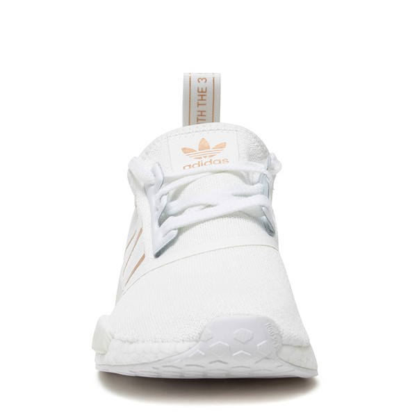 alternate image alternate view Womens adidas NMD R1 Athletic Shoe - White / Rose GoldALT4