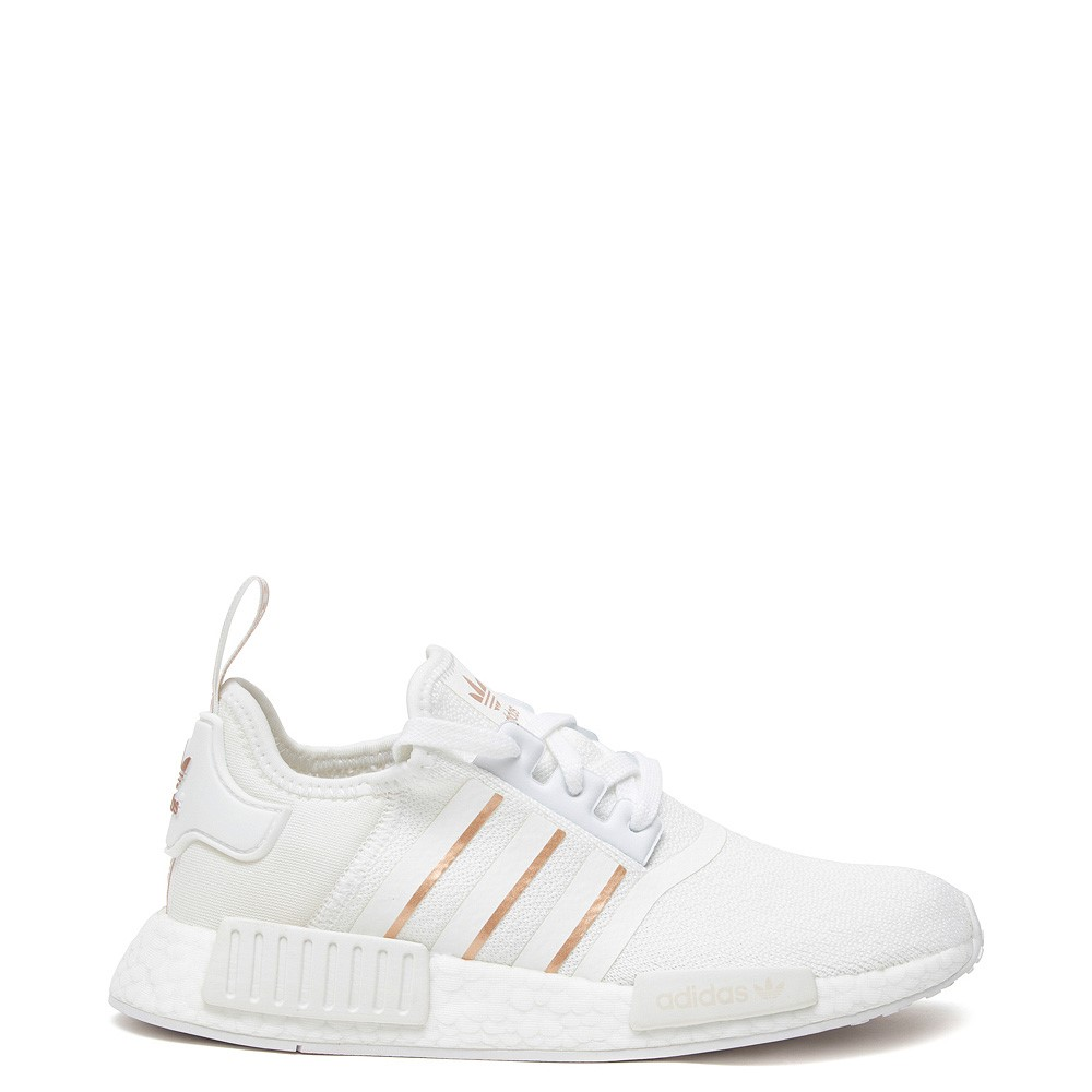 Womens adidas NMD R1 Athletic Shoe - White / Rose Gold