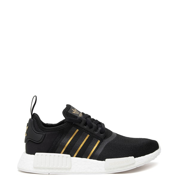 Main view of Womens adidas NMD R1 Athletic Shoe - Black / Gold / White
