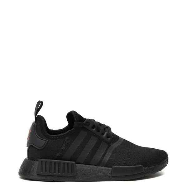 Main view of Womens adidas NMD R1 Athetic Shoe - Black / Scarlet