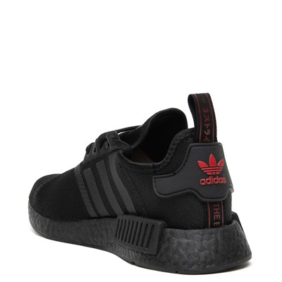 Alternate view of Womens adidas NMD R1 Athetic Shoe - Black / Scarlet