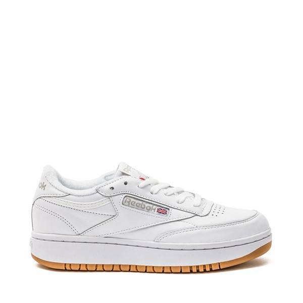 Main view of Womens Reebok Club C Double Athletic Shoe - White / Grey / Gum