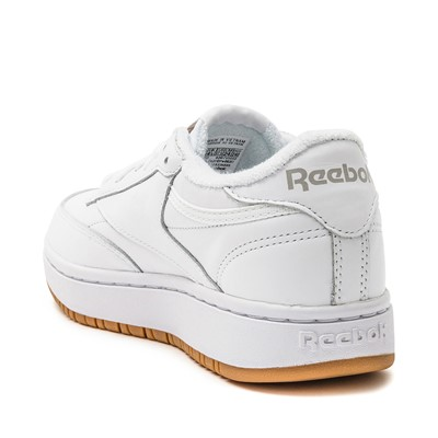 Alternate view of Womens Reebok Club C Double Athletic Shoe - White / Grey / Gum
