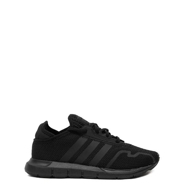 Main view of adidas Swift Run X Athletic Shoe - Little Kid - Black Monochrome