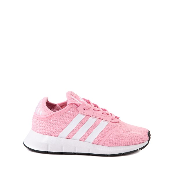 Main view of adidas Swift Run X Athletic Shoe - Little Kid - Pink / White