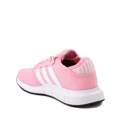 Alternate view of adidas Swift Run X Athletic Shoe - Little Kid - Pink / White