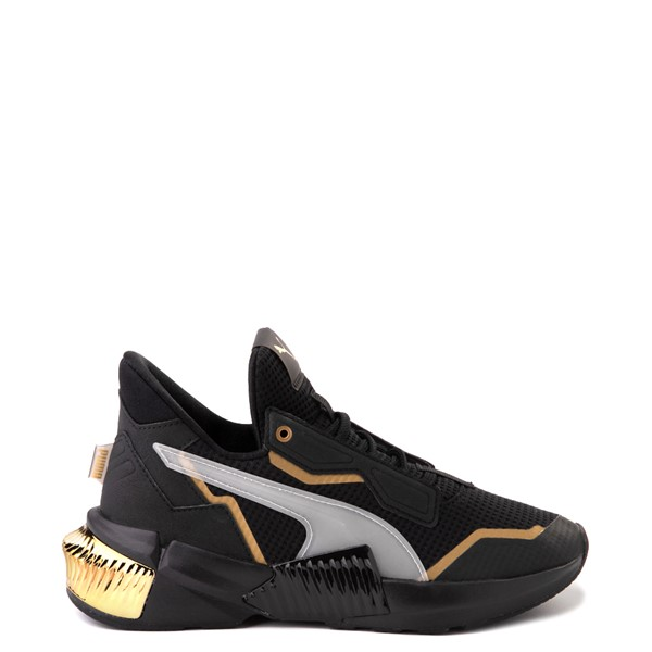 Womens Puma Provoke XT Athletic Shoe - Black / Grey / Gold