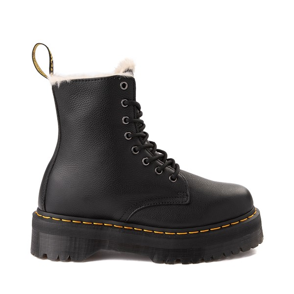 Main view of Dr. Martens Jadon Faux Fur Boot - Black