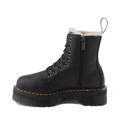 Alternate view of Dr. Martens Jadon Faux Fur Boot - Black
