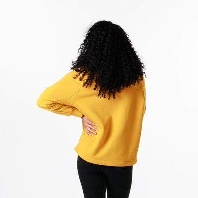 Alternate view of Womens adidas R.Y.V. Cropped Sweatshirt - Legacy Gold
