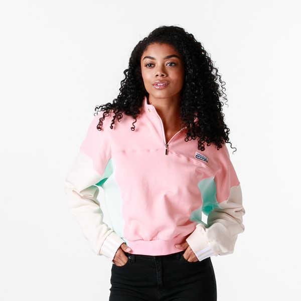 Main view of Womens adidas R.Y.V. Cropped Sweatshirt - Trace Pink