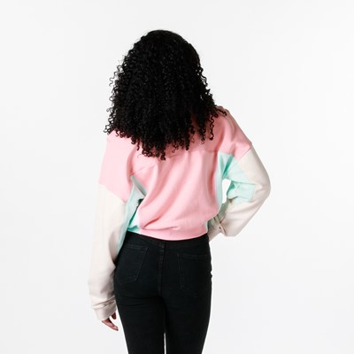 Alternate view of Womens adidas R.Y.V. Cropped Sweatshirt - Trace Pink