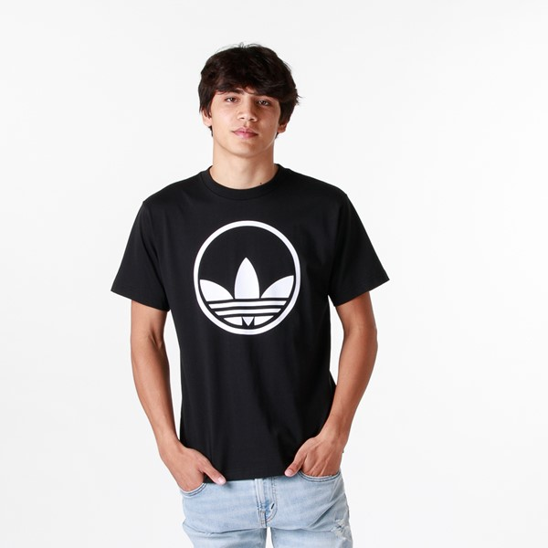 Mens adidas Trefoil Circle Tee - Black
