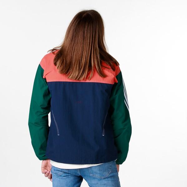 alternate image alternate view Mens adidas Summer B-Ball Windbreaker Jacket - Collegiate Navy / Glory AmberALT1