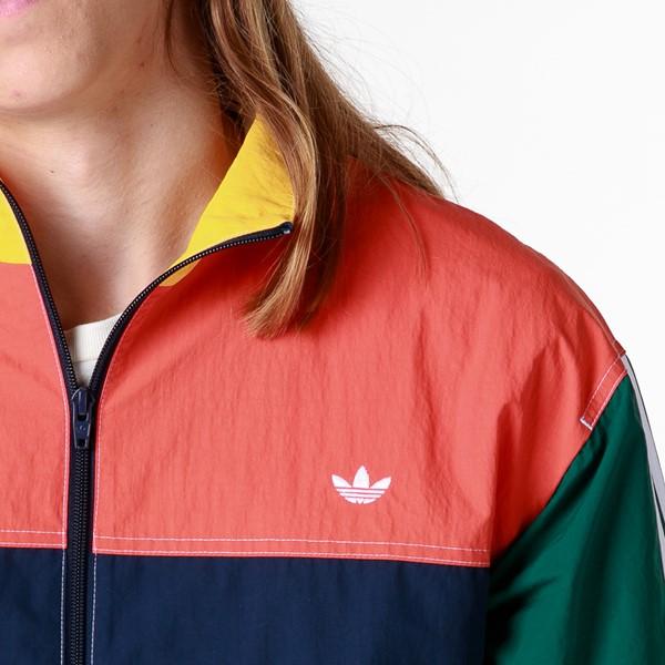 alternate image alternate view Mens adidas Summer B-Ball Windbreaker Jacket - Collegiate Navy / Glory AmberALT2