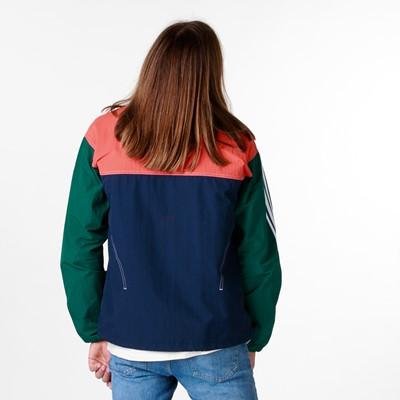 Alternate view of Mens adidas Summer B-Ball Windbreaker Jacket - Collegiate Navy / Glory Amber