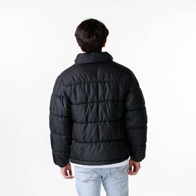 Alternate view of Mens adidas Padded Stand Collar Puffer Jacket - Black