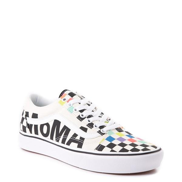 alternate image alternate view Vans x MoMA Old Skool ComfyCush® Checkerboard Skate Shoe - White / RainbowALT1B
