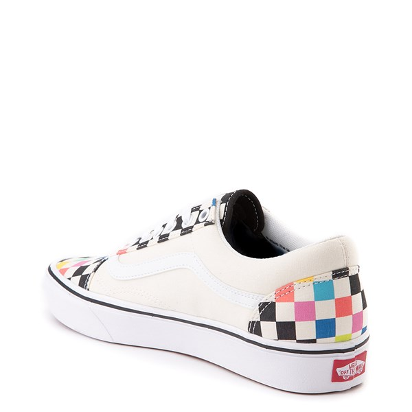 alternate image alternate view Vans x MoMA Old Skool ComfyCush® Checkerboard Skate Shoe - White / RainbowALT2