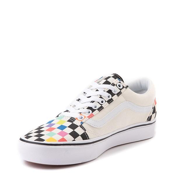 alternate image alternate view Vans x MoMA Old Skool ComfyCush® Checkerboard Skate Shoe - White / RainbowALT3