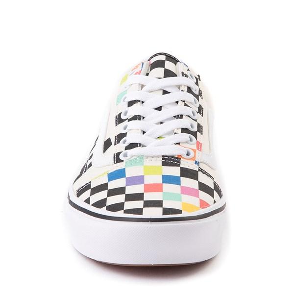 alternate image alternate view Vans x MoMA Old Skool ComfyCush® Checkerboard Skate Shoe - White / RainbowALT4