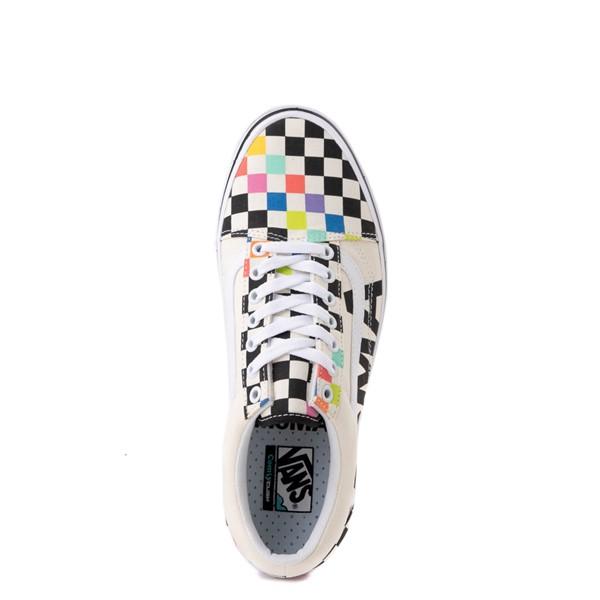 alternate image alternate view Vans x MoMA Old Skool ComfyCush® Checkerboard Skate Shoe - White / RainbowALT4B