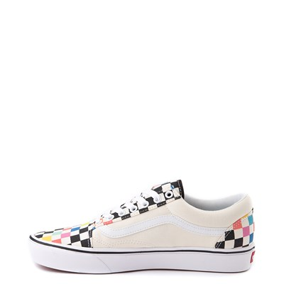 Alternate view of Vans x MoMA Old Skool ComfyCush® Checkerboard Skate Shoe - White / Rainbow