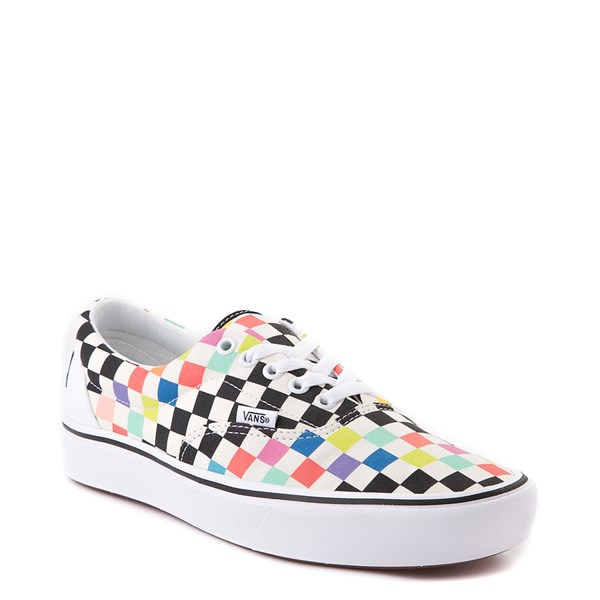 alternate image alternate view Vans x MoMA Era ComfyCush® Checkerboard Skate Shoe - White / RainbowALT1