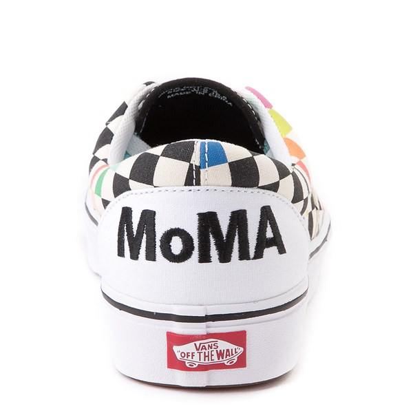 alternate image alternate view Vans x MoMA Era ComfyCush® Checkerboard Skate Shoe - White / RainbowALT2B