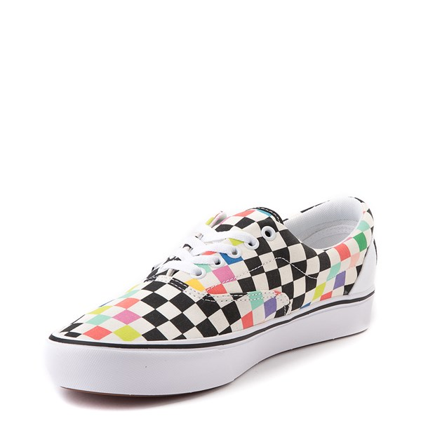 alternate image alternate view Vans x MoMA Era ComfyCush® Checkerboard Skate Shoe - White / RainbowALT3