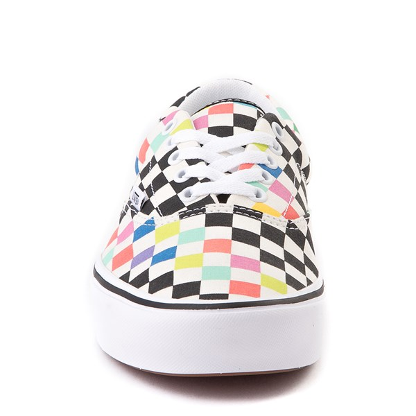 alternate image alternate view Vans x MoMA Era ComfyCush® Checkerboard Skate Shoe - White / RainbowALT4