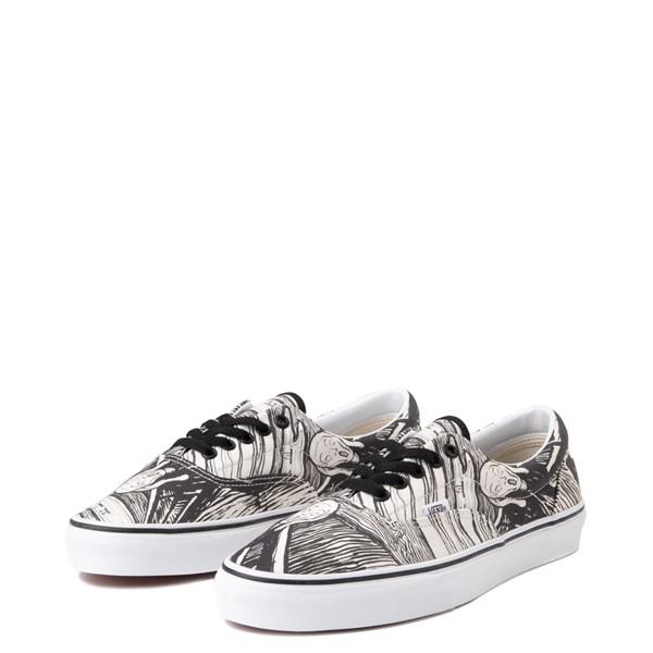 alternate image alternate view Vans x MoMA Era Edvard Munch Skate Shoe - White / BlackALT3
