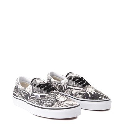 Alternate view of Vans x MoMA Era Edvard Munch Skate Shoe - White / Black