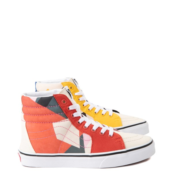 Main view of Vans x MoMA Sk8 Hi Lyubov Popova Skate Shoe - Red